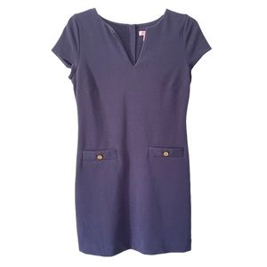 Lilly Pulitzer Navy Layton Shift Casual Dress